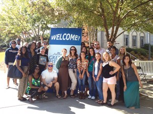 Members of Students Without Borders enjoy Atlanta Greek Fest.