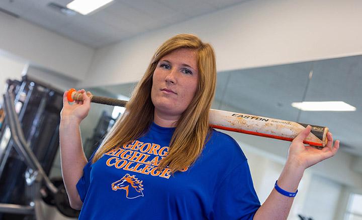 Love of softball keeps nursing major in the game