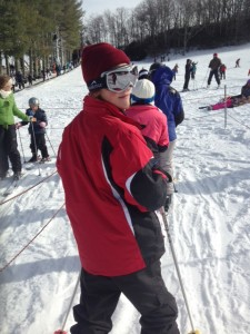 Student Tyler Fuller is ready to ski during the Georgia Highlands annual ski and snowboard trip to Bowling Rock, N.C. contributed