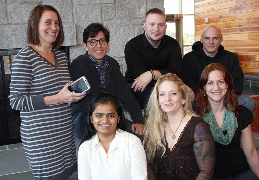 UR-IT club members are excited for upcoming trip. Back row from left: Camille Pace, Julían Orjuela, Steve Hood, Adam Jackson. Front row from left: Ekta Patel, Amelia Bagwell, and Laurel Wickam
