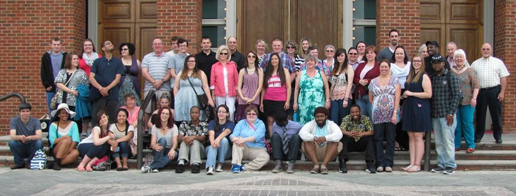 Attendees of the annual trip to the Alabama Shakespeare Festival take a moment to get a group photo to remember the event. Photo Contributed.