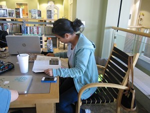 Vanas studies at the Cartersville campus, many miles from her home in Austria. Photo by Shelby Hogland.