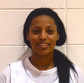 Georgia Highlands basketball player Rafeegah Fataar