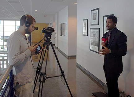 GHC alumnus Victor Williams enjoys time in front of the camera
