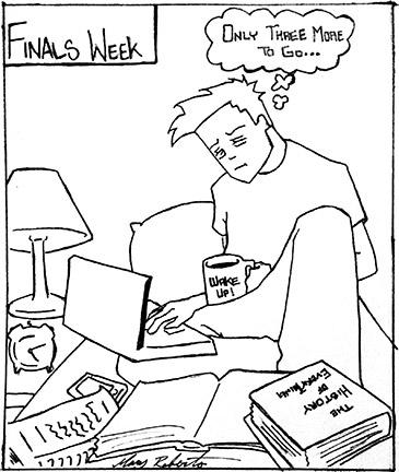 Cartoon by Mary Roberts.