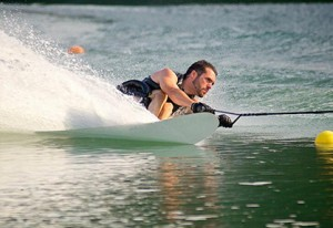 David Carter participates in the 2014 Disabled Water Ski Nationals. Contributed by JD Diamond Photography.