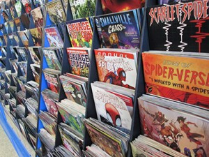 Comic books at What If Comics and Collectables line the racks, ready to be purchased by anyone inside who enters the store. Photo by Kiston Dowler.