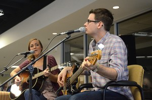 Emily Hearn and her husband, Michael Harrison, performing on Floyd campus. Photo by Jeremy Huskins.