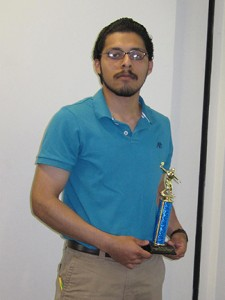 Emilio Carmona champion of the  Cartersville ping-pong tournament. Photo by Shelby Hogland