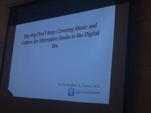 Christopher Daniel's Title Presentation. Photo by Christina Goodwin