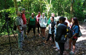 GHC students listen to the guide in the jungles of Costa Rica.