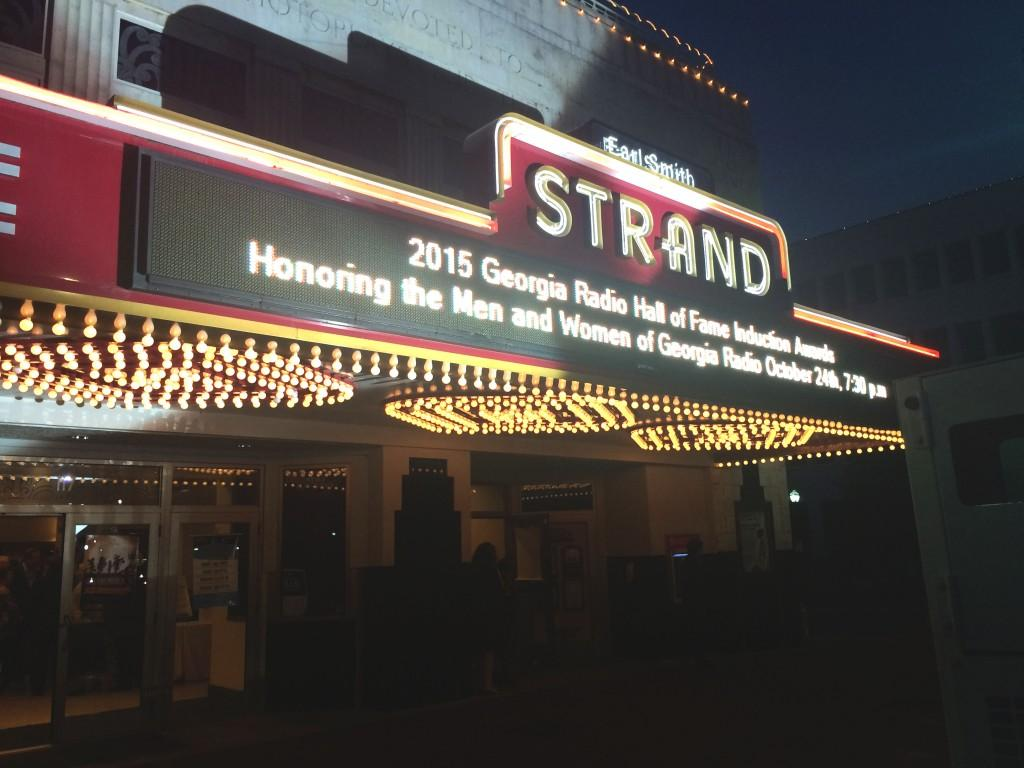 The title of the event shines bright on the Strand Theaters Marquee. Photo by Christina
