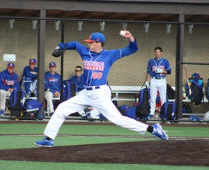 John McClure pitches to a rival team. Contributed