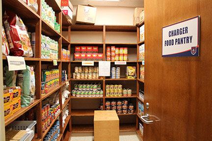 The Charger Food Pantry is now open. Photo by Cassandra Humphries