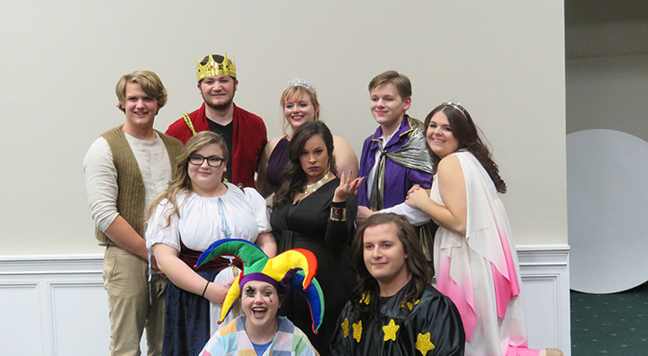 The GHC Players is made up of, back row from left, Karsten Black, Tanner Jordan, Kendalyn Millsap, Christian Humphreys, Shelby Wehunt, middle row from left, Randi Drummond, Bryce Pitts, front row from left, Autumn Townsend and Joseph LeClaire.Photo by Kayla Jameson
