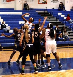 Pam Diokpara goes for the shot on Feb.22