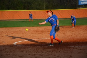 Rebecca Meada pitches against Gordon State as part of the doubleheader sweep on Feb.23  Photo by Stephanie Corona