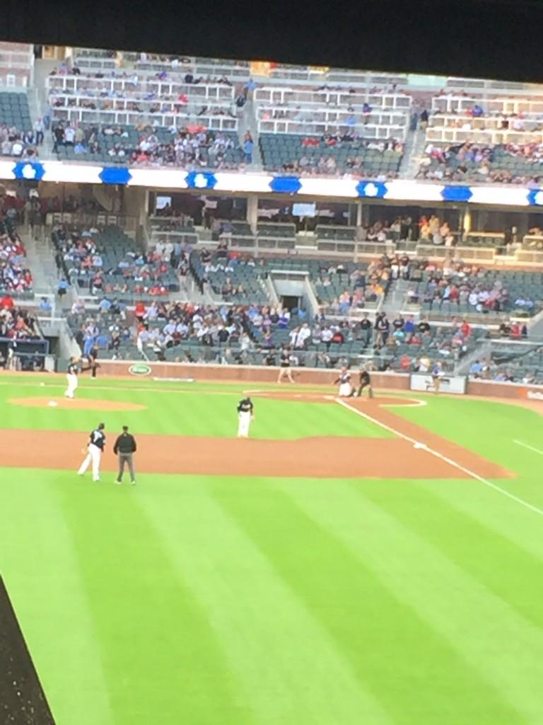 The Atlanta Braves faced the New York Yankees for the soft opening on March 31. Photo by Joshua Mabry