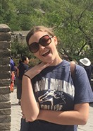Contributed Samantha Tate, GHC student, stands by the Great Wall of China.