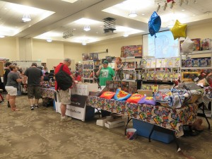 People gather at a 2018 Cartersville Comic Con booth. Photo by Nick Whitmire