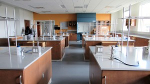New science labs are featured in the new STEAM building. These labs will make more class space available on the Cartersville campus.  Photo by Sarah Belcher.