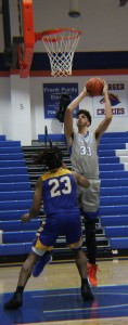 David Greer goes for a shot against Gordon State. Photo by Catie Sullivan