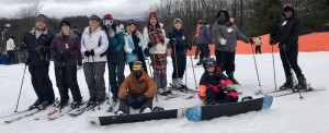 Students who attended the annual ski/snowboard trip received course credit for PHED 1420, which is a two credit hour elective physical education class.  Contributed Photo