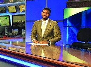 Victor Williams works on set at WOIO's news station. Contributed Photo