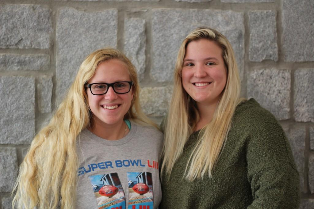 Emma (left) and  Sydney McDonald (right) are in their sophomore seasons as Chargers. Photo by Kayley Agan