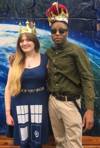 From left: Kayla Jameson and Prince Carter were chosen as Mr. and Ms. Bolt at the dance. Photo by Joseph McDaniel