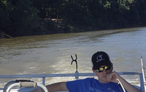 Brookshire relaxes on a boat a few days after getting out of the hospital.