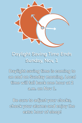 Daylight Saving Time ends this Sunday