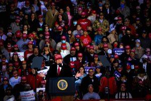 President Donald Trump speaks at rally in Rome, GA.