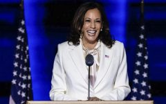Kamala Harris adresses the nation in her first speech as Vice President-elect.