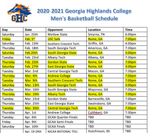 Chargers basketball teams post season schedule