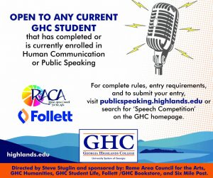 Student's Choice Voting Now Open for Spring 2021 GHC Public Speaking Competition