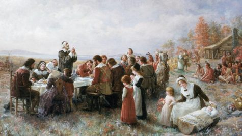 "An illustration of the ""first"" Thanksgiving."