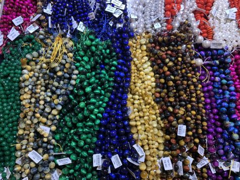 Beads made out of different crystals at Bellpoint Gem Show.