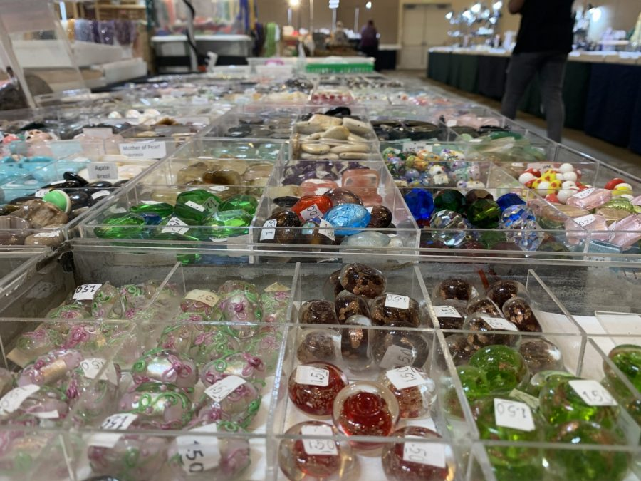 Some of the crystals for sale at the Bellpoint Gem Show.