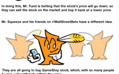 This comic illustrates a simplified version of January's  short squeeze.