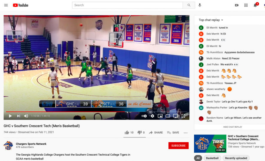 View the basketball games on the Chargers Sports Network Youtube channel.