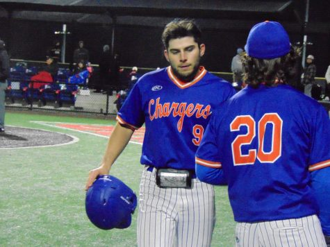 Infielder, Brandon Prince (9), heads back to the dugout in their game against Calhoun Community College on February 17.