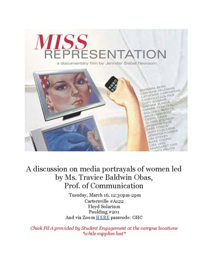 Join a discussion on media portrayals of women led by Travice Baldwin Obas.