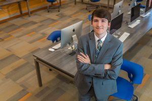 Daniel Belisle's recent internship led to work in a national competition.