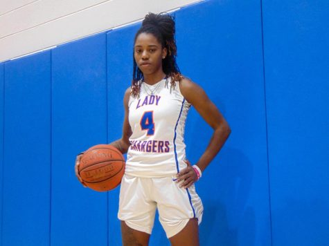 Getting ready for practice, sophomore Jashanti Simmons looks to lead the Lady Chargers to another successful season