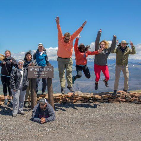 GHC students pose at Mt. Washburn in Yellowstone National Park.